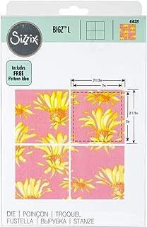 Sizzix 15 Bigz Dies Fabi Edition Squares L Die, Multicolor