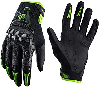 COOLOH Mens Fox Bomber Leather Motorcycle MTB Gloves Outdoor Enduro Cycling Riding Gloves
