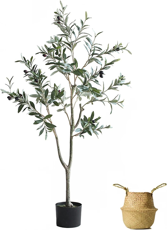 Cheap SALE Start WENMENG2021 Fake Bonsai 47-inch Faux Artificial Tree Rare Olive