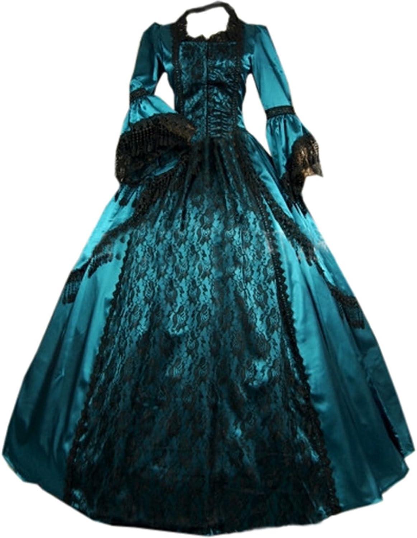 Partiss Women Vintage FloorLength Gothic Victorian Dress