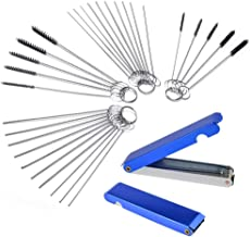 Gzingen Carburetor Carbon Dirt Jet Remove Cleaner 26 Cleaning Wires Torch Tip Cleaner Tool +20 Cleaning Needles +10 Nylon Brush Tool Kit for Motorcycle ATV Moped Welder Carb Chainsaw Spray Torch Tips