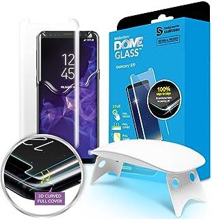 Dome Glass S9 Protector Pantalla, 3D Borde Curvo Cristal Templado [Tecnología de Dispersión Líquida] Fácil de Instalar Kit...