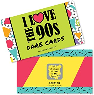 Big Dot of Happiness 90's Throwback - 1990s Party Game Scratch Off Dare Cards - 22 Count