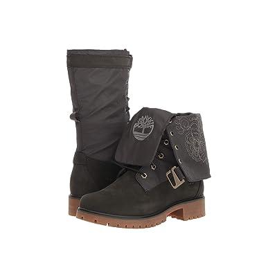 Timberland Jayne Waterproof Gaiter Boot (Dark Green Nubuck/Dark Green) Women
