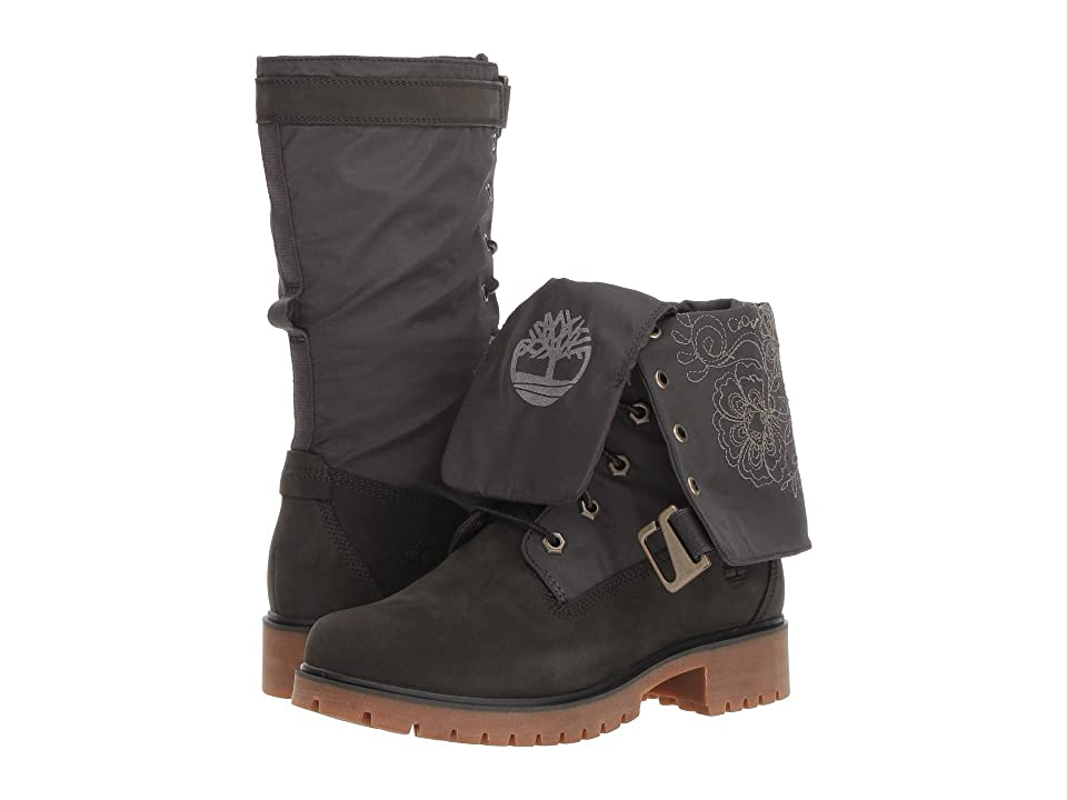 Timberland Jayne Waterproof Gaiter Boot (Dark Green Nubuck/Dark Green) Women