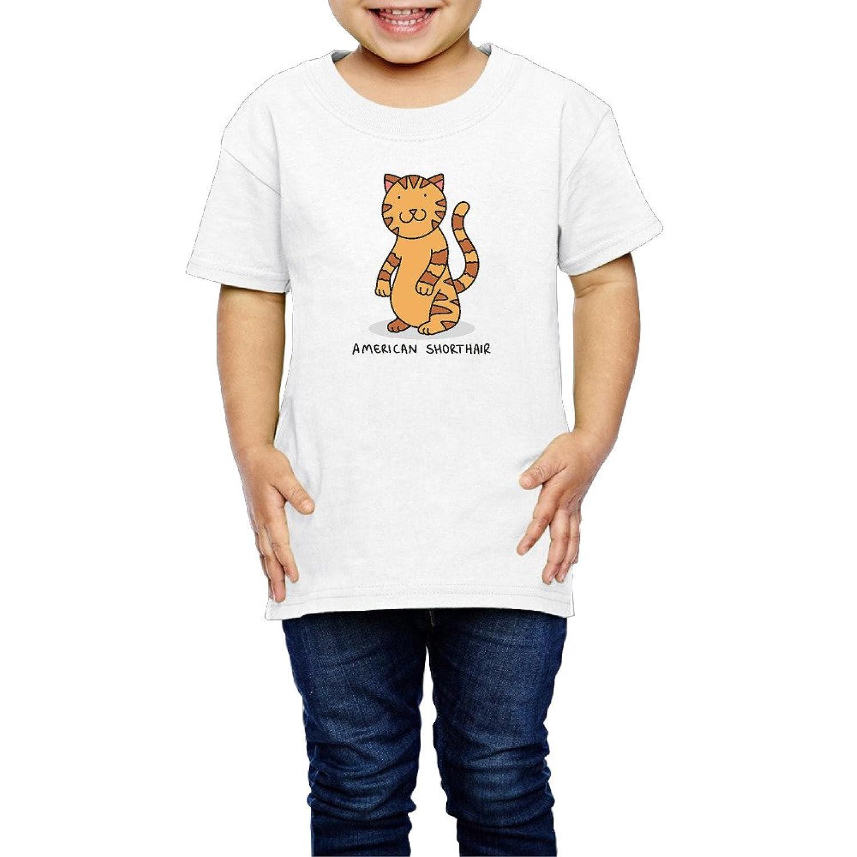 アメリカン?ショートヘア 子供服 キッズ 半袖 Tシャツ 綿100% 2 Toddler