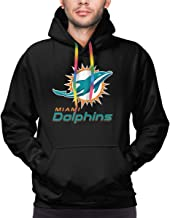 FDcdddd Mens 3D Full Print Miami Dolphins Cool Sweatshirts for Men