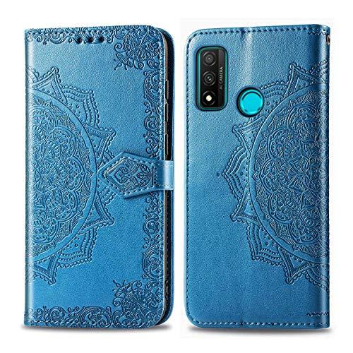 Bear Village Hülle für Huawei Nova Lite 3 Plus, PU Lederhülle Handyhülle für Huawei Nova Lite 3 Plus, Brieftasche Kratzfestes Magnet Handytasche mit Kartenfach, Blau