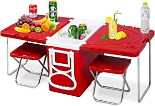 rolling cooler picnic table