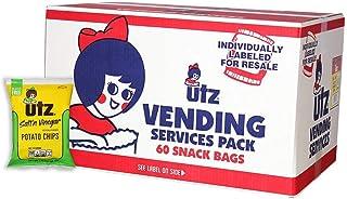 Utz Potato Chips, Salt & Vinegar – 1 oz. Bags (60 Count) – Crispy Potato Chips Made from Fresh Potatoes, Crunchy Individua...