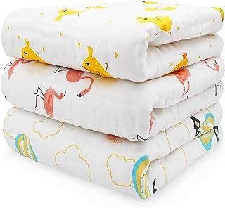 優の綿品 ベビー タオル 6重ガーゼ 綿100% 110cmX110cm 3枚セット 赤ちゃん おくるみ 沐浴ガーゼ 出産祝い 保育園 ふわふわ 暖かい バスタオル 柔らかい肌触り 細菌防止 静電気防止 吸水速乾 保温