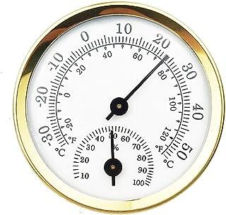 Shinzeun 世帯ミニ57mmアルミ合金金属温度計湿度計壁掛け温度湿度計サウナルーム