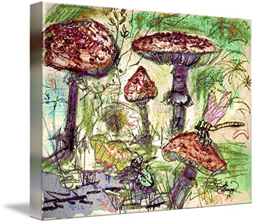 Imagekind Canvas Wall Art Print Decor Entitled Forest Portabello by Ginette Callaway | 32 x 24