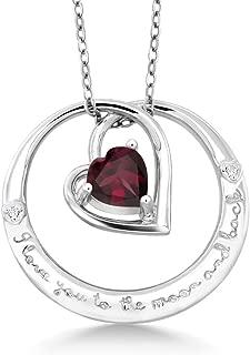 Best garnet moon necklace Reviews