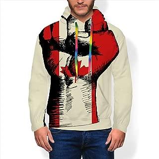 YILINGER Men's Hoodie American Baseball Emblem Unisex Casual Sweatshirt