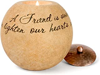 Pavilion Gift Company Comfort Candles 4-1/2-Inch Round Candle Holder, Friend