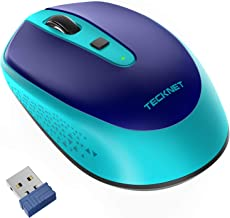 TECKNET Omni Small Portable 2.4G Wireless Optical Mouse with USB Nano Receiver for Laptop..