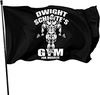 Juhucc Dwight Schrute'S Gym Flag 3x5 Ft Garden Flag Banner Decoration Outdoor Flag Home Decoration,Garden Decoration