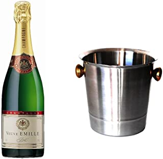 Veuve Emille Champagner Brut im Champagner Kühler Aluminium 12% 0,75 l Fl.