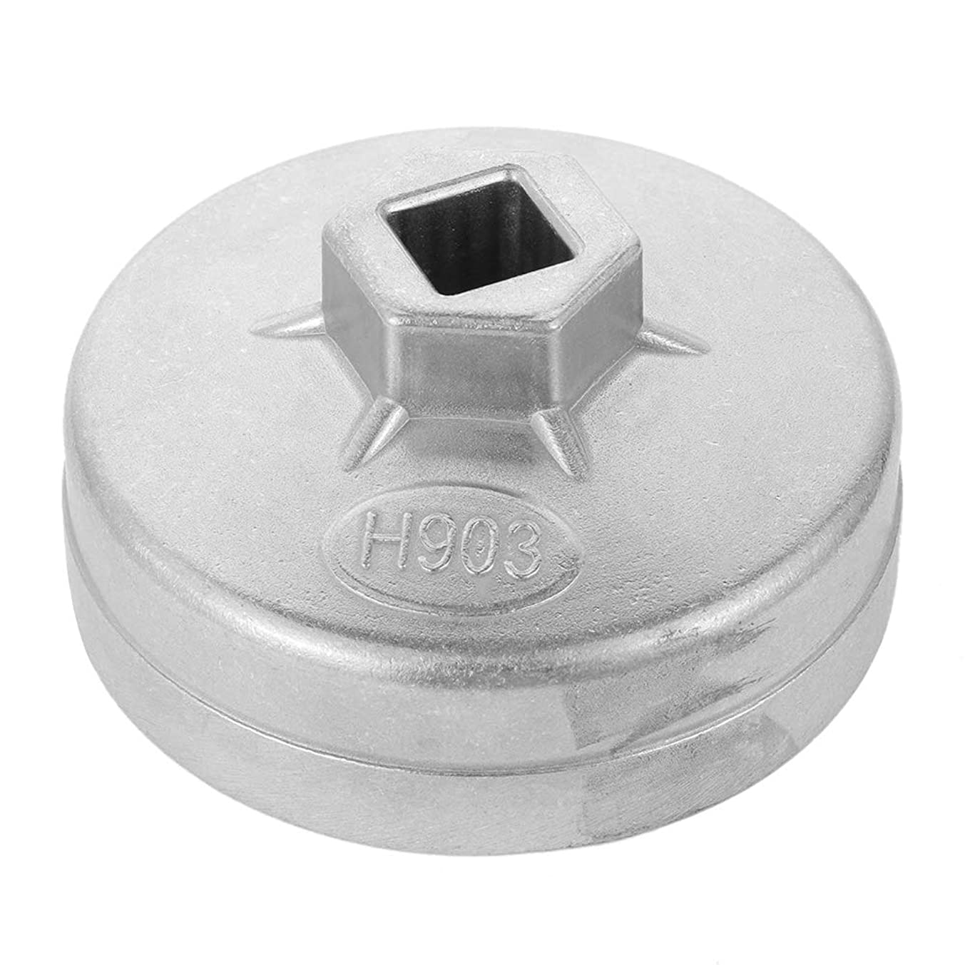 okdeals 903 74mm 14 Flute Aluminum Oil Filter Wrench Socket Remover Tool