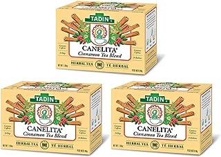 Tadin Herbal Tea Canelita / Cinnamon Tea Blend. Calming, Soothing & Caffeine Free. 24 Bags. 1.52 Oz. Pack of 3