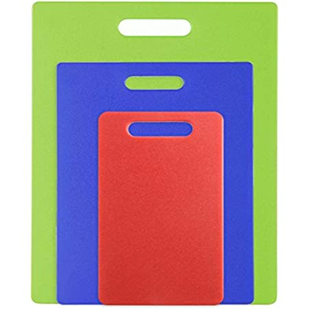 Dexas Jelli Cutting Board, Set of Three, Red, Blue, Green