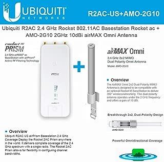Rocket 2AC Prism R2AC airPrism Basestation 2.4GHz airMax + AMO-2G10 Omni Antenna 2GHz 10dBi