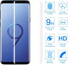 Frazil Full Coverage Edge-to-Edge 5D Tempered Glass Screen Protector for Samsung Galaxy S9 (Transparent)
