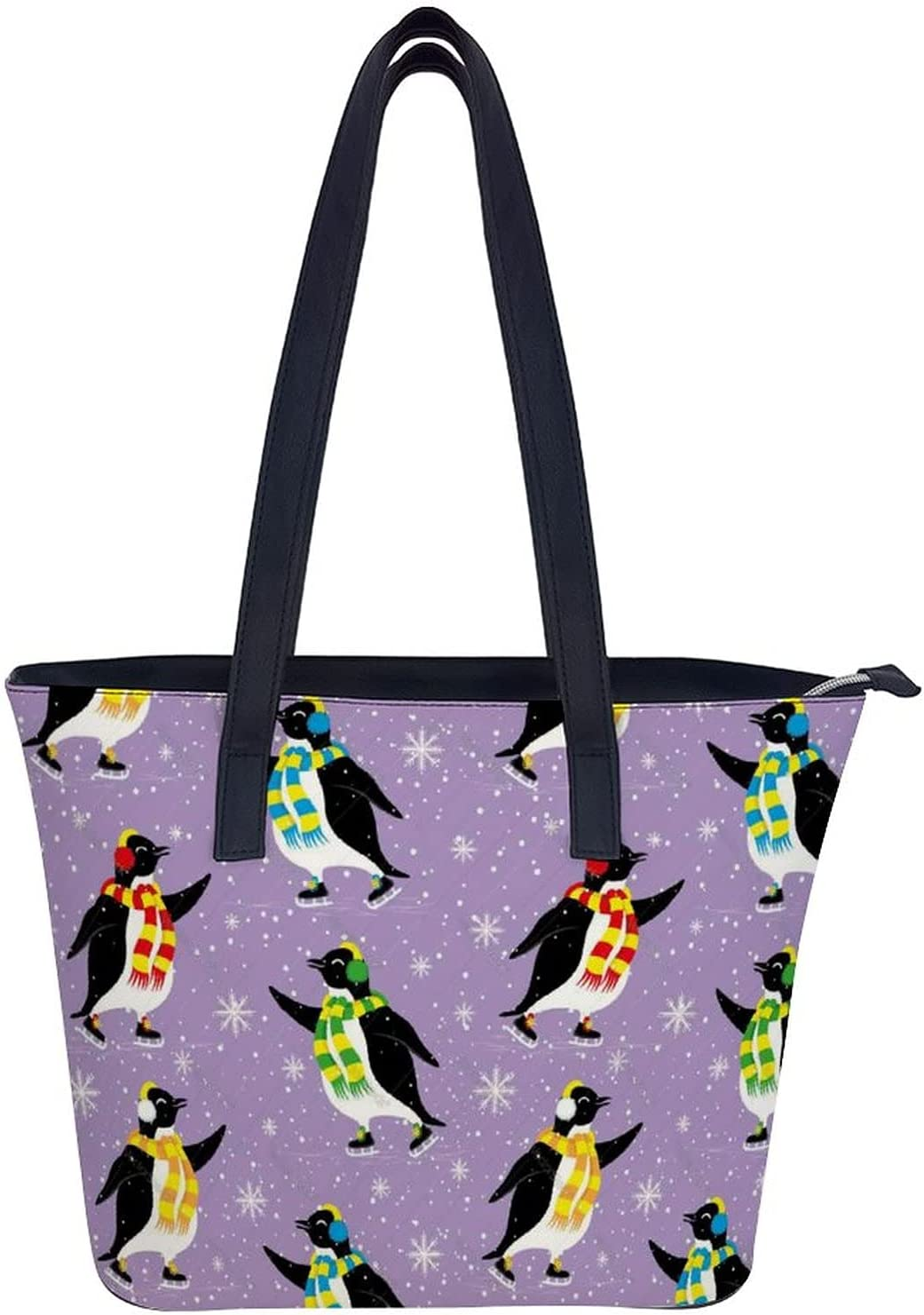 Cute Max 67% OFF Penguins Women's Fashion Tote Shoulder Handbags Bag Sales results No. 1 Leather