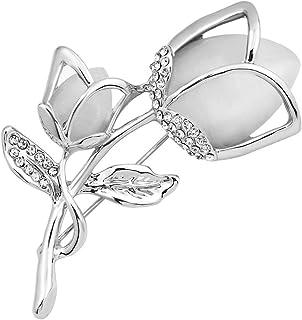 Opale Fleur Broche Broche Strass Cristal Robe de fête de mariage Broche Jewe FG