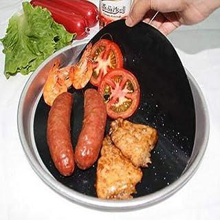 LLAAIT 2 PCS Réutilisable Tapis Antiadhésif Pan Fry Liner Feuille Cuisson Wok Feuille Pad Cuisine Barbecue Tapis De Cuisso...
