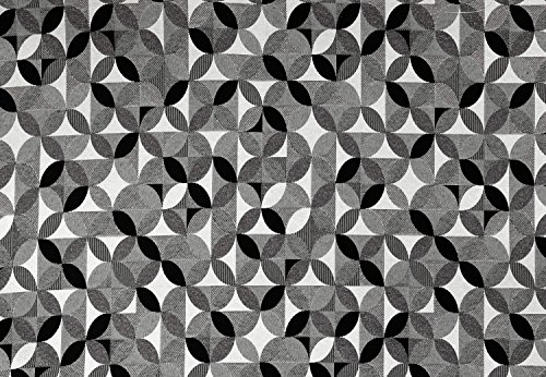 Globaltex 1 Meter Dekostoff Circle Black extrabreit 280 cm Gobelin Meterware Baumwolle/Polyester (29,95 € pro Meter)