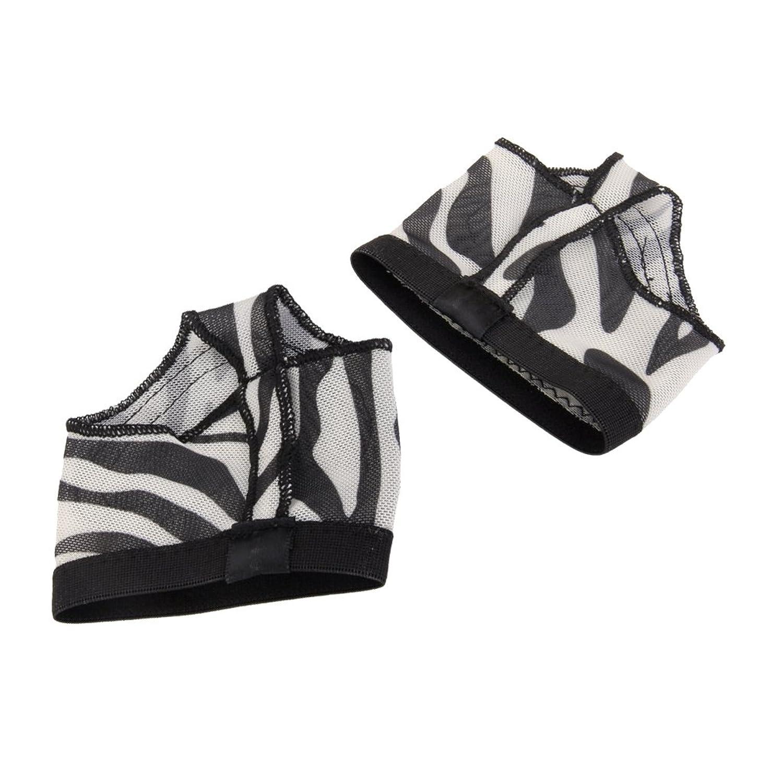 【ノーブランド品】ベリーダンス バレエ用 トゥパッド ダンスソックス プロテクター 靴下 ひも付 2穴タイプ XL