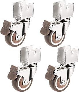 AERZETIX Rueda pivotante con frenos bloqueo de rueda para muebles /Ø75mm H95mm 50kg placa de montaje 60x60mm C42669