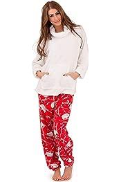 Loungeable Womens Hedgehog Print Winter Nightwear Ladies Hooded Sherpa Sleepwear