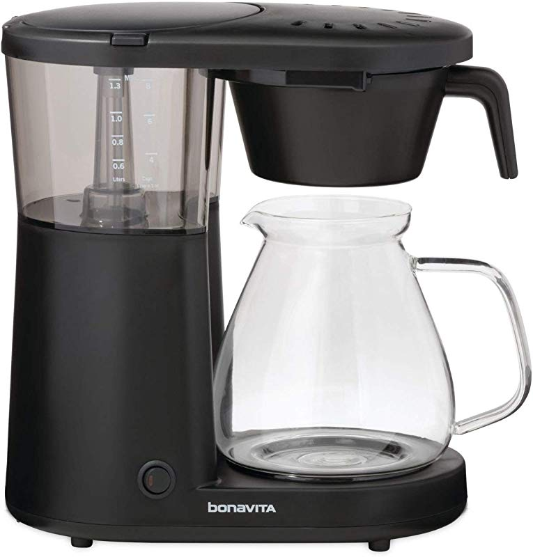 Bonavita BV1901PW Metropolitan One Touch Coffee Brewer Length 12 60 Width 6 80 Height 12 20 Black Renewed
