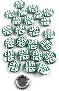 ERA YES – Equal Rights Amendment Vintage Design Pinback Buttons – 1.5 Inch Round – 25 Pack