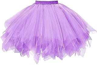 Carnevale gonnellina Taglia Unica bianco danza Accessori tut/ù vestiti Bambina ballerina 2 strati 3-8 anni tulle Idea regalo originale Gonna glitter