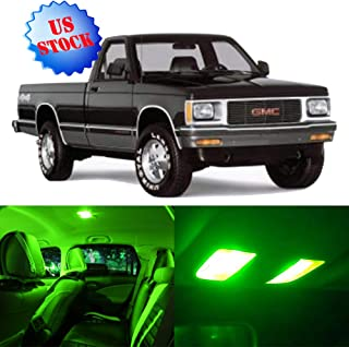 8Pcs Green Interior LED Light Package Kit Replacement Bulbs Fits for 1998-2003 GMC Sonoma