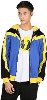 Static Shock Hoodie Color Block Hooded Sweatshirt Static Cosplay Costume