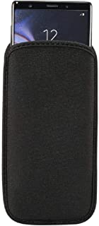 DFV mobile - Waterproof and Shockproof Neoprene Sock Cover, Slim Carry Bag, Soft Pouch Case for Nokia Asha 205 - Black