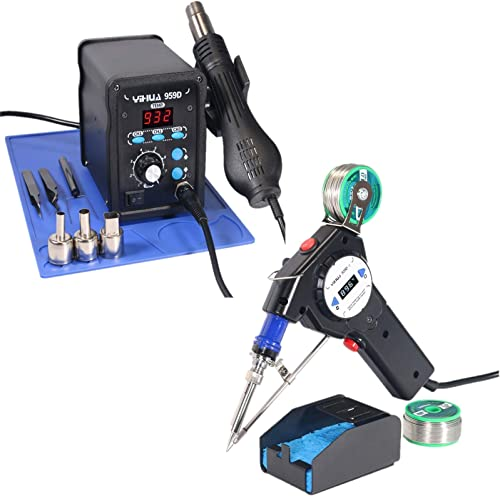 popular YIHUA outlet sale 959D Rework Station Bundled with 929D-II Auto-feed Soldering 2021 System outlet sale