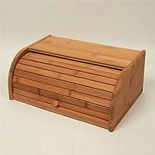 FZYE Boîte à Pain en Bambou en Bois, bacs à Pain de Stockage de Nourriture à la Maison, boîte à Fruits de pâtisserie de ré...