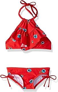 ثوب سباحة للفتيات من Kanu Surf Morgan Ruffle Halter من قطعتين باللون الوردي، مقاس 2T