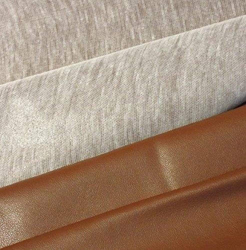0,5m Kunstleder uni mittel-braun 75% PU 25% PL Meterware 140cm breit