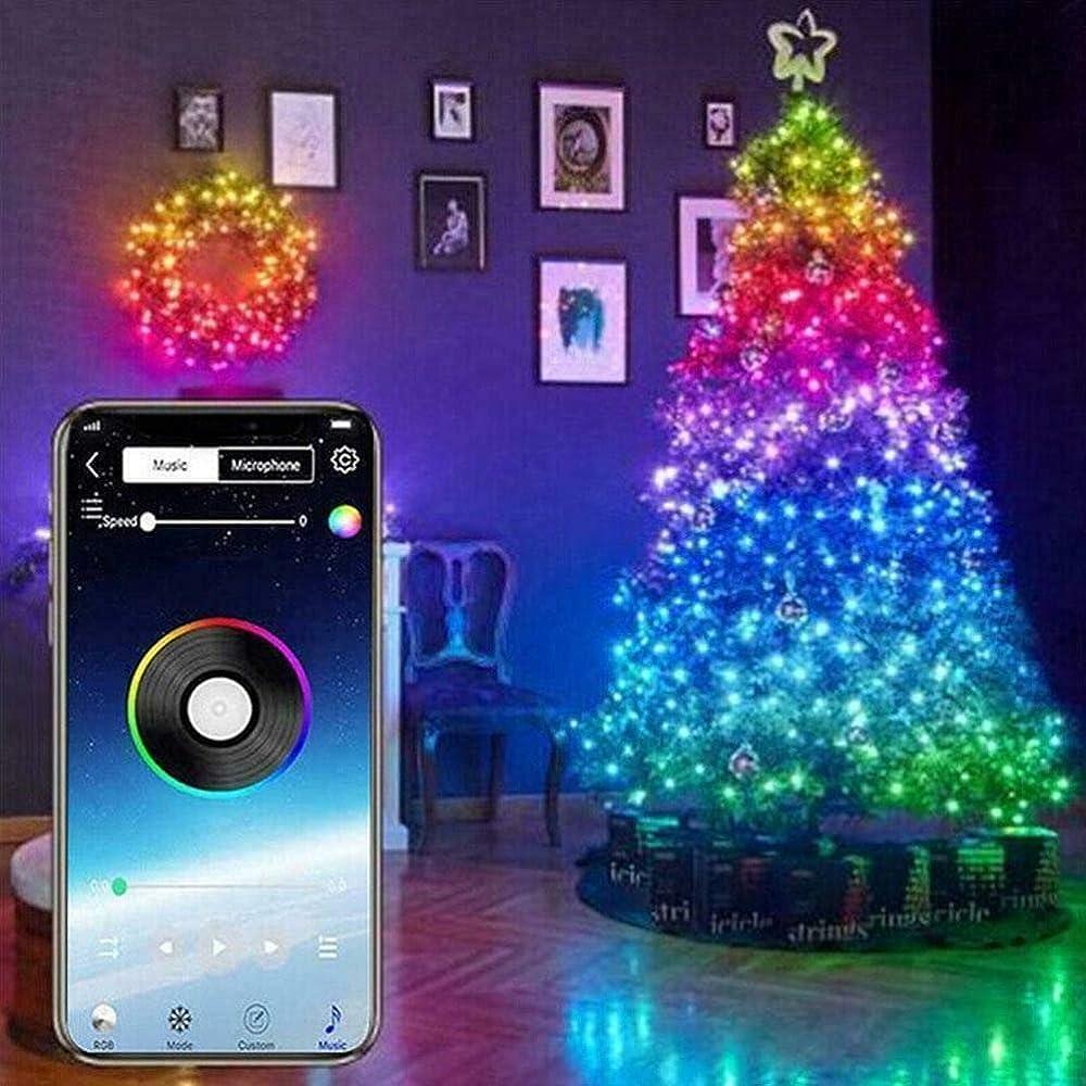 Lyf luci albero di natale, luci natalizie a strisce led controllate da app 20m, usb bluetooth LED0187024_03-AM255KU