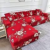 WXQY Funda de sofá de Esquina con Estampado Floral, Funda de sofá de Sala de Estar,...