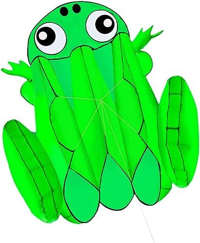 Kind Drachen, Größe Weißhe Outdoor Drachen Frosch Kind Reise Tragbare Licht Fliegende Spielzeug, 140  130 CM (Größe   140  130CM)