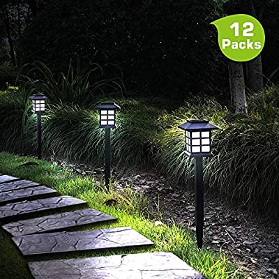 Otdair Solar Path Lights Outdoor - Waterproof LED Solar Pathway Lights Outdoor for Yard, Garden, Path, Landscape, Patio, Walkway, 12 Pack