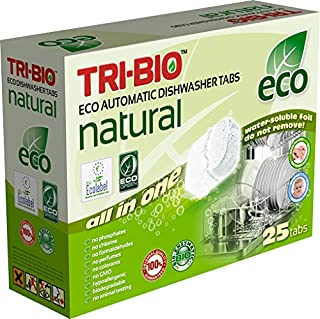 Tri-Bio Eco Natural All In One Dishwasher Tablets 25 Tablets